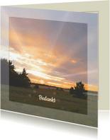 Rouwkaarten - Rouwkaart met zon