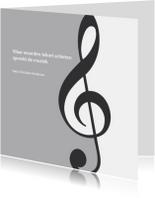 Rouwkaarten - rouwkaart muziek