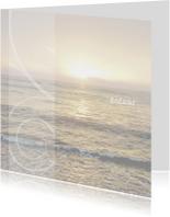Rouwkaarten - Rouwkaart om te bedanken zee