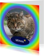 Condoleancekaarten - Rouwkaart regenboog - afscheid huisdier