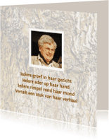 Rouwkaarten - rouwkaart rimpel vertelt verhaal