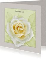 Condoleancekaarten - Rouwkaart Roos b