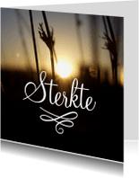 Condoleancekaarten - Rouwkaart sterkte kalligrafie