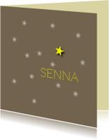 Rouwkaarten - rouwkaart sterretje aan hemel