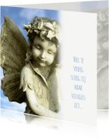 Rouwkaarten - Rouwkaart Vlinderkindje