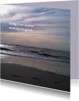 Rouwkaarten - rouwkaart zee