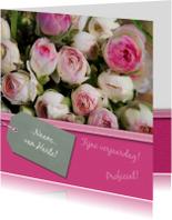 Verjaardagskaarten - Roze ranonkel kaart