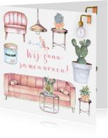 Verhuiskaarten - Samenwonen hippe meubels