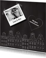Verhuiskaarten - Samenwonen kaart krijtbord huisjes foto