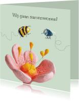 Verhuiskaarten - Samenwonen kaart vlieg en bij