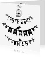 Verhuiskaarten - Samenwonen letterslinger wgs - B