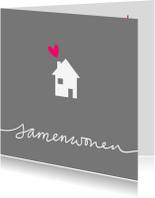 Verhuiskaarten - Samenwoonkaart-huisje-tekst-PF