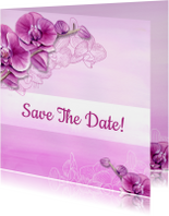Trouwkaarten - Save Te Date orchidee