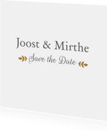 Trouwkaarten - Save the date blaadjes