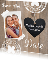 Trouwkaarten - Save the Date eigen foto LB59