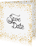 Trouwkaarten - Save the date Gold Sparkle - SV