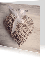 Trouwkaarten - Save the date hart instagramstijl