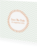 Trouwkaarten - Save the date zig zag