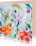 Kunstkaarten - schilderij print bloemen