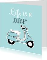 Verjaardagskaarten - Scooter verjaardagskaart - SG