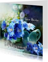 Verjaardagskaarten - Scrapbook Delphinium - SG