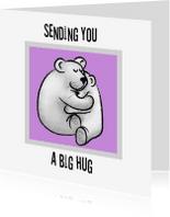 Sterkte kaarten - Sending you a big hug - tessart