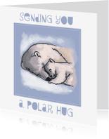 Sterkte kaarten - Sending you a polar hug - tessart