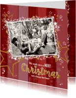 Kerstkaarten - Sfeervolle foto kerstkaart rood