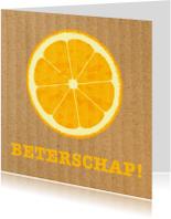 Beterschapskaarten - sinasappelkaart, beterschap