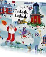 Sint-kaart (enkel) van het leukste pakpapier van Nederland