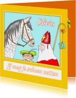 Sinterklaaskaarten - Sint - Schimmel en roetpietje