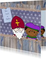 Sinterklaaskaarten - Sinterklaas en piet naamkaart 4k