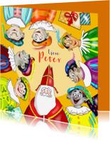 Sinterklaaskaarten - Sinterklaas - Sint en zeven Pieten