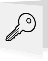 Felicitatiekaarten - Sleutel