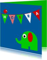 Kinderkaarten - Slinger met Olifantje