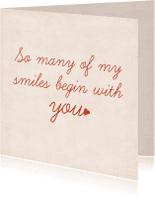 Liefde kaarten - Smiles
