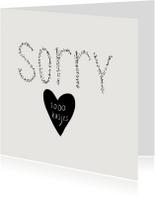 Sorry 1000 kusjes
