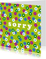 Sorry kaarten - Sorry kaart bloemen