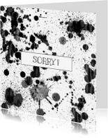 Sorry kaarten - SORRY  met spetters.