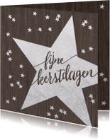 Kerstkaarten - Sparkly Sterren Confetti kerstkaart