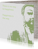 Religie kaarten - Spirituele kaart Buddha Happiness