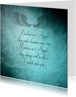 Spreukenkaart: Believe in angels