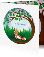 Geboortekaartjes - sprookje vos me