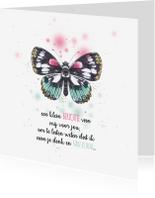 Sterkte kaarten - Sprookjesachtige vlinder