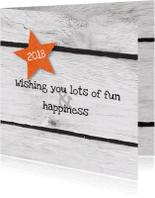 Nieuwjaarskaarten - Star wood your own text
