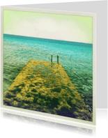 Sterkte kaarten - steiger in de zee