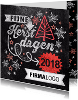 Zakelijke kerstkaarten - stempel 2018 kerstboom rood vk