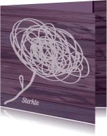 Sterkte kaarten - Sterkte abstracte bloem paars