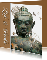 Condoleancekaarten - Sterkte kaart Buddha - liefs en sterkte