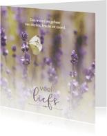 Condoleancekaarten - Sterkte kaart met vlinder